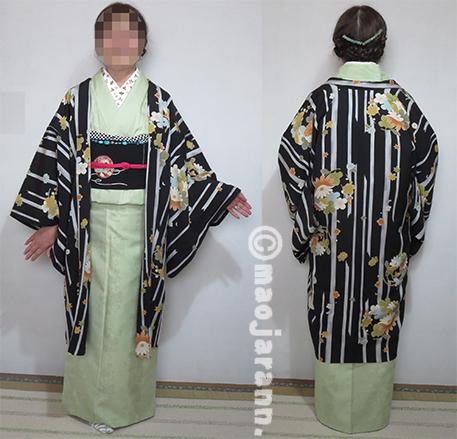 1-27草色結城紬×手毬帯04