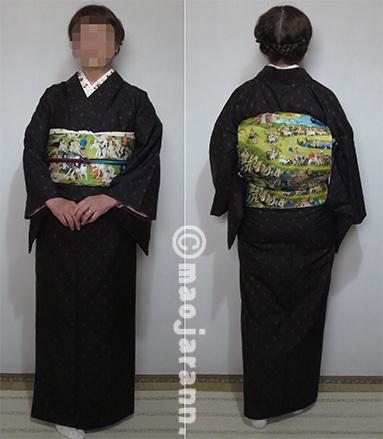 2-11水玉大島紬×ボッス03