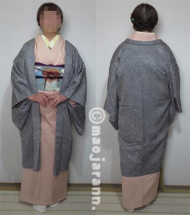 2-18伊那紬×京友禅帯03