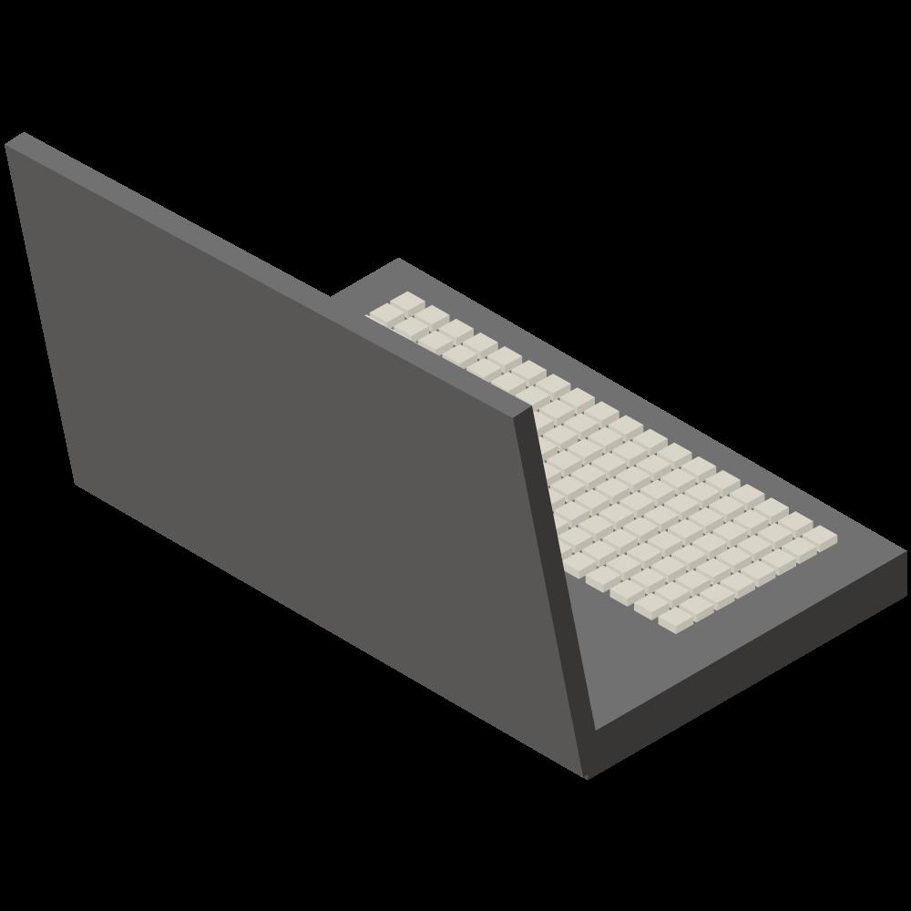 シンプルでかわいい3DアイソメトリックのノートPCアイコン