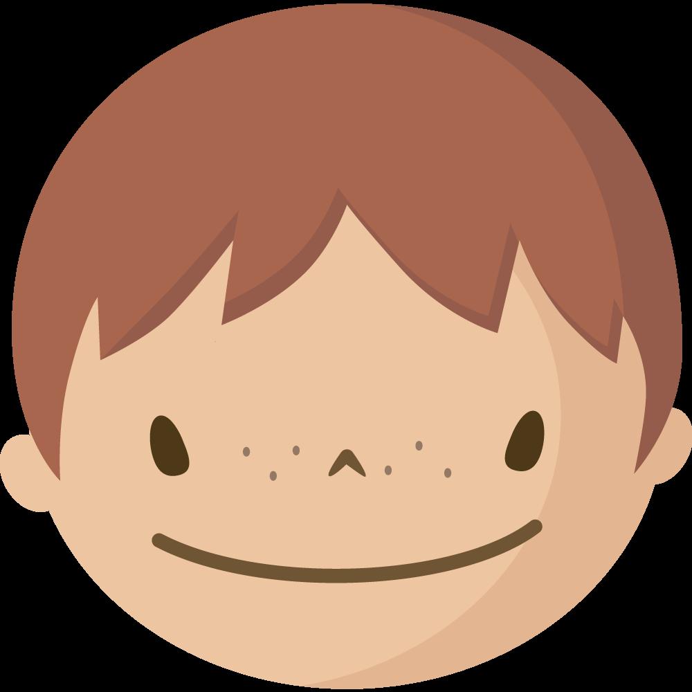 シンプルでかわいい男児の顔だけイラスト