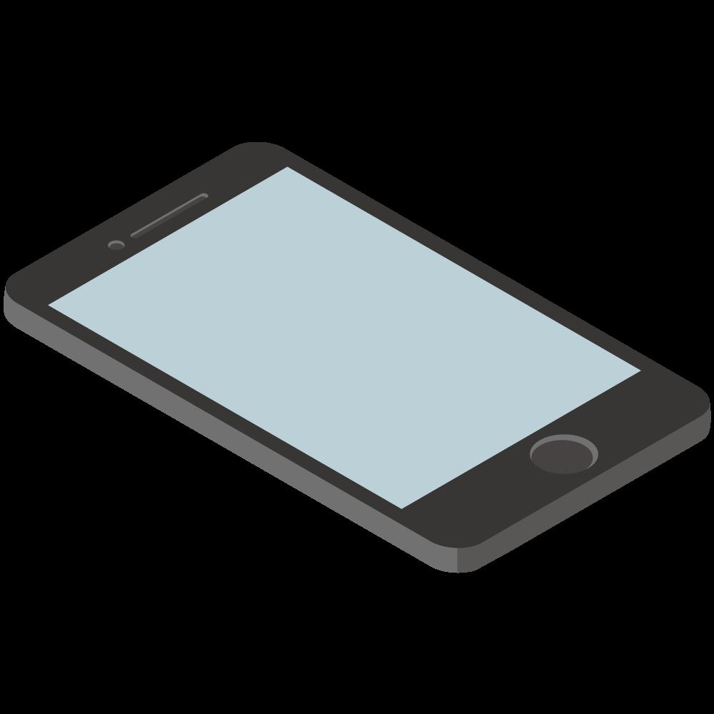 シンプルでかわいい3Dアイソメトリックのiphoneのイラスト