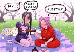 花見で飲みすぎた隼鷹と那智t