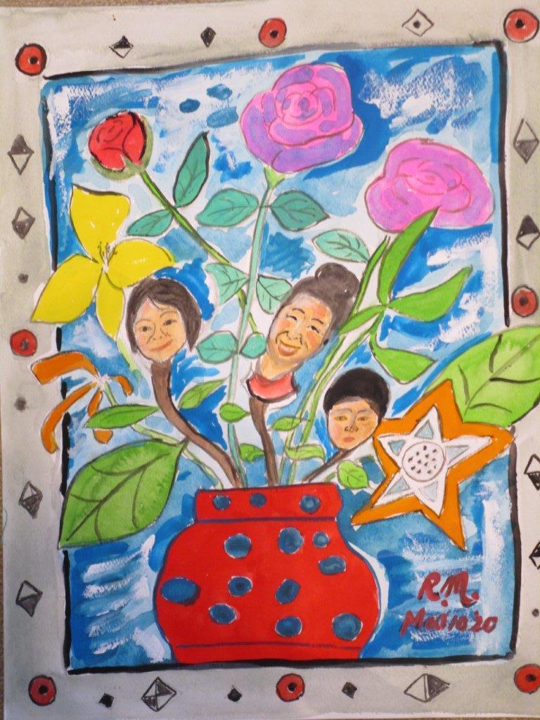 花に成った家族