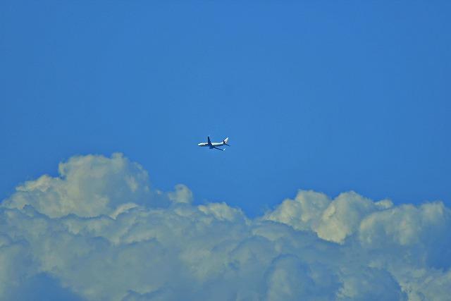 関崎海星館で大分空港へ着陸する飛行機を撮る