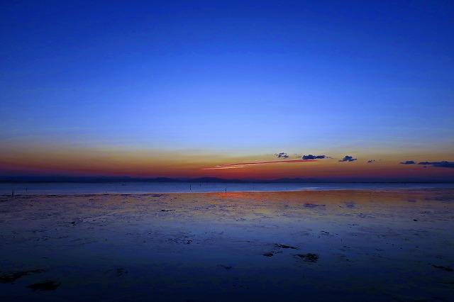 静寂の時 有明干潟の夜明け