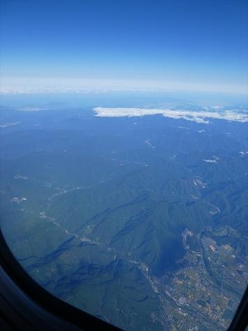 岐阜県 揖斐町上空から若狭湾方向【スカイマーク機より】