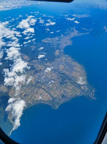 滋賀県高島市【スカイマーク機からの眺望】