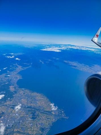琵琶湖【スカイマーク機からの眺望】