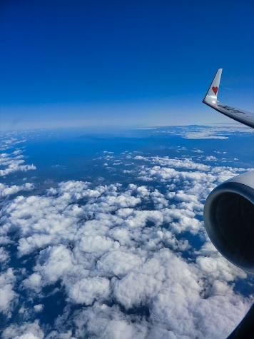 若狭湾方向【スカイマーク機からの眺望】