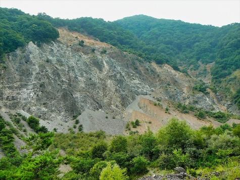 大西山崩壊地(長野県大鹿村)