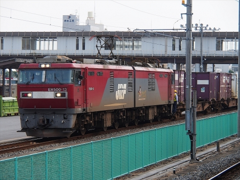電気機関車 EH500-13【土浦駅】