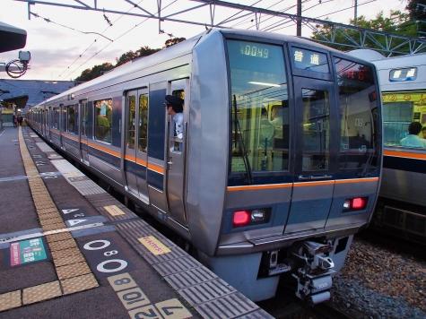 JR 京都線 207系 電車【山崎駅】