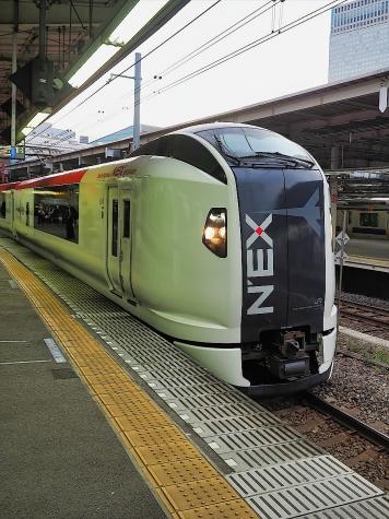 JR東日本 E259系電車 特急「成田エクスプレス」【品川駅】