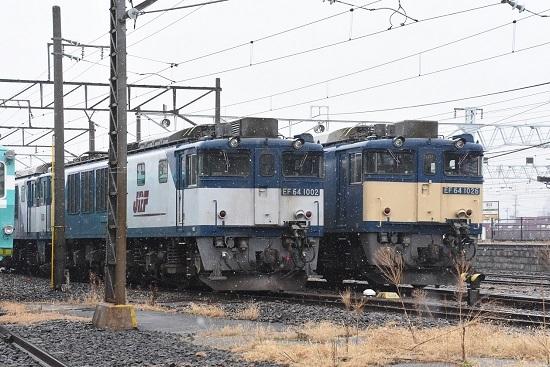 2020年3月8日撮影 南松本にてEF64-1026号機と1002号機
