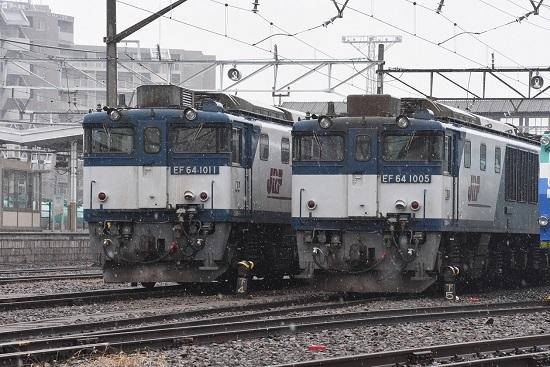 2020年3月8日撮影 南松本にてEF64-1011号機と1005号機