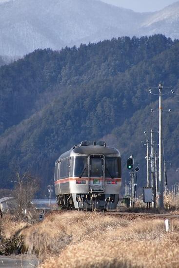 2020年2月9日撮影 高山本線 キハ85系 WVひだを後撃ち