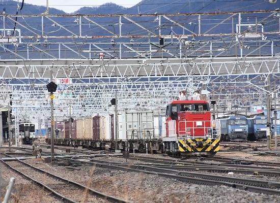 2020年2月16日撮影 東線貨物2083レを牽くHD300-9号機