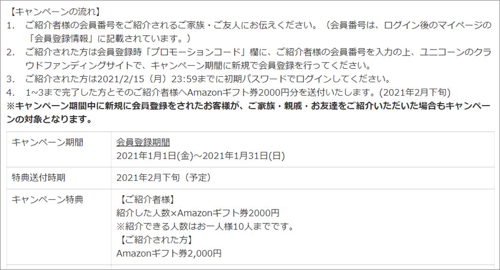 ユニコーン新春キャンペーン202103