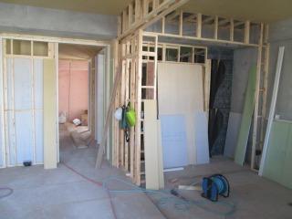 5階造作施工中