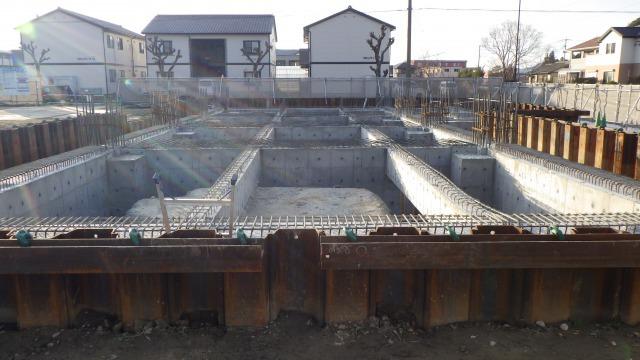 基礎・地中梁コンクリート出来形