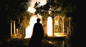 トリスタン、ローマ遺跡の四阿を燃やす