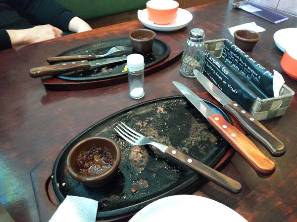 またしても、すてーき亭でステーキを食べました。