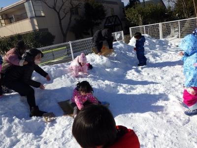 雪遊び うさぎ3