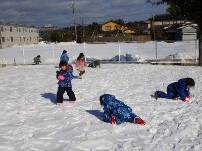 雪遊び うさぎ7