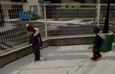 りす組 雪遊び②