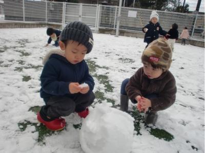 りす組 雪遊び①