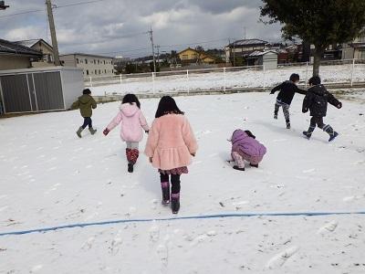 ぱんだ組 束の間の雪遊び1