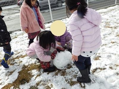 ぱんだ組 束の間の雪遊び2
