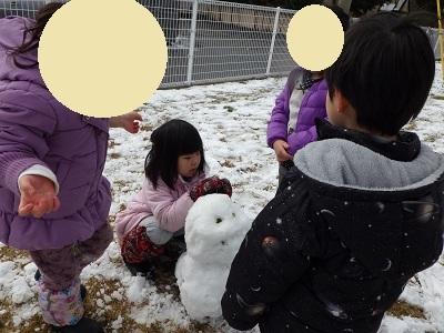 ぱんだ組 束の間の雪遊び3