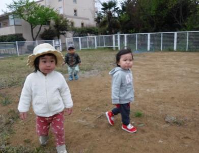 りすぐみ 園庭②