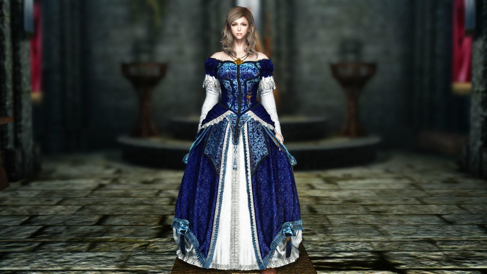 FullInuEliseDressSK 220-1 Pose Dress Blue 1