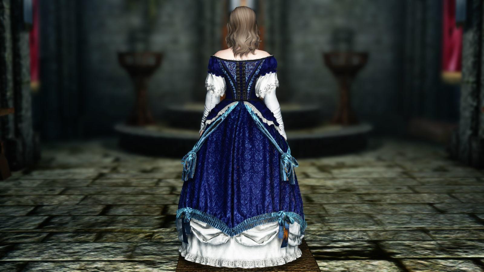 FullInuEliseDressSK 221-1 Pose Dress Blue 1