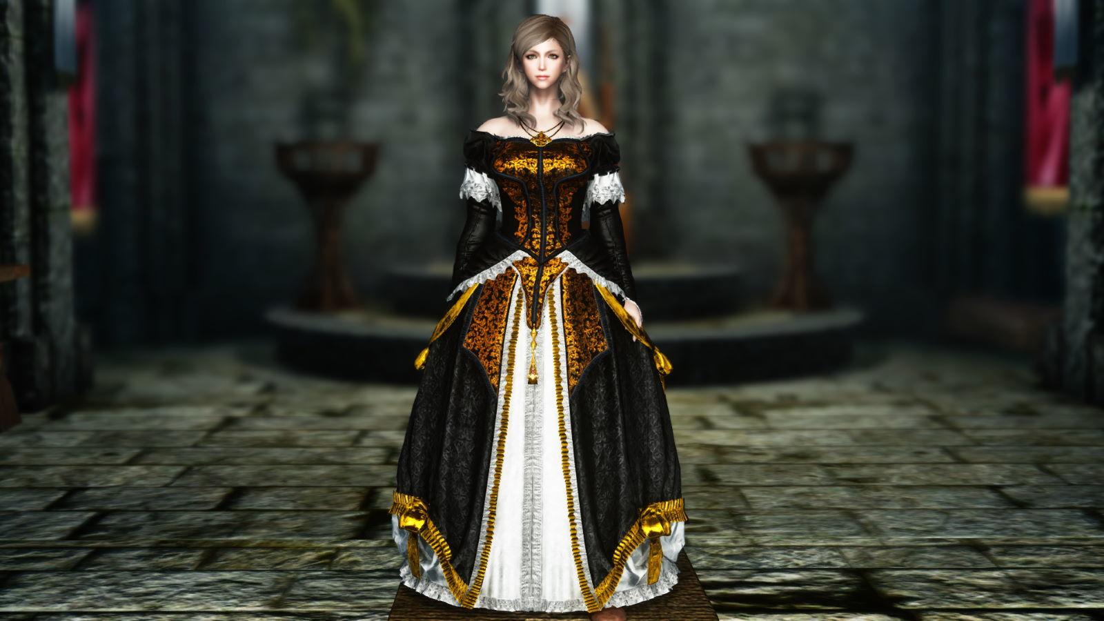 FullInuEliseDressSK 230-1 Pose Dress Gold 1