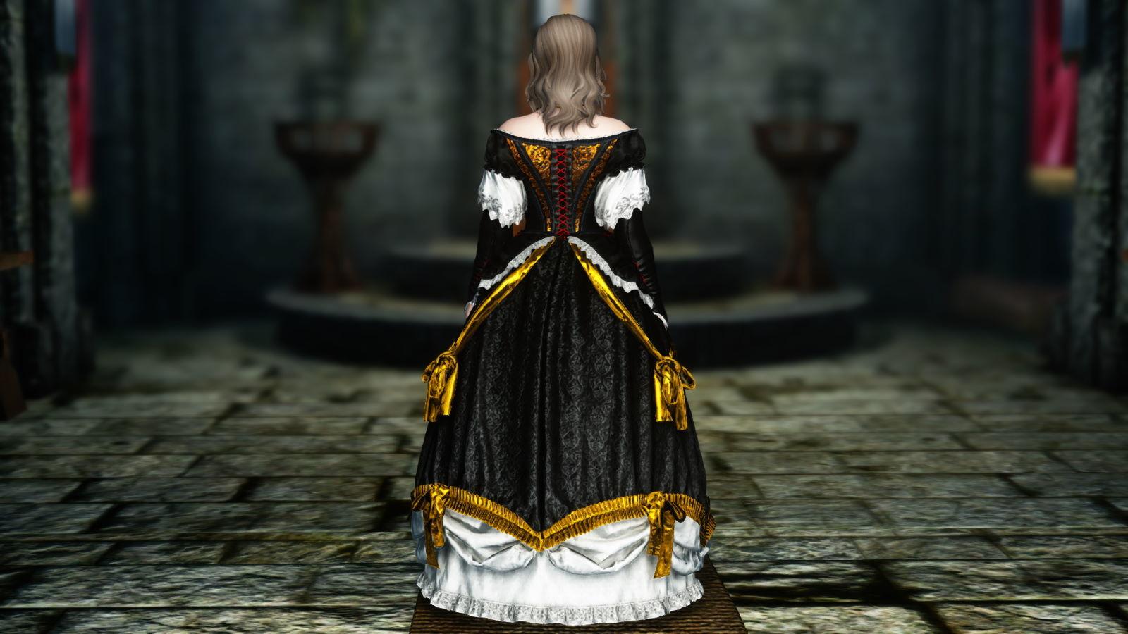 FullInuEliseDressSK 231-1 Pose Dress Gold 1