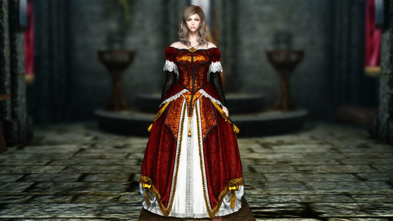 FullInuEliseDressSK 260-1 Pose Dress Red 1