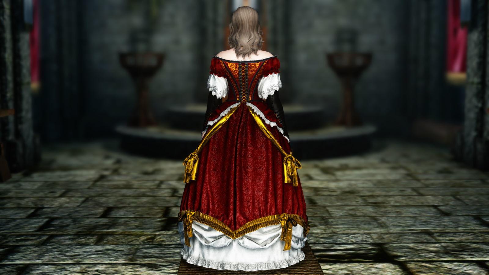 FullInuEliseDressSK 261-1 Pose Dress Red 1