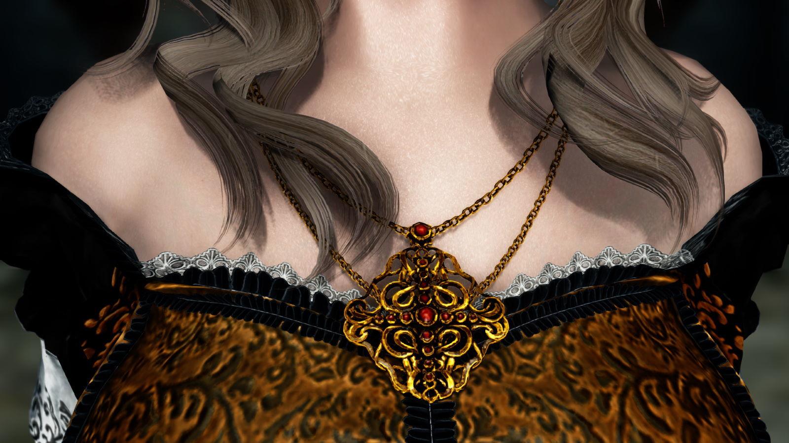 FullInuEliseDressSK 280-1 Pose Necklace Gold 1