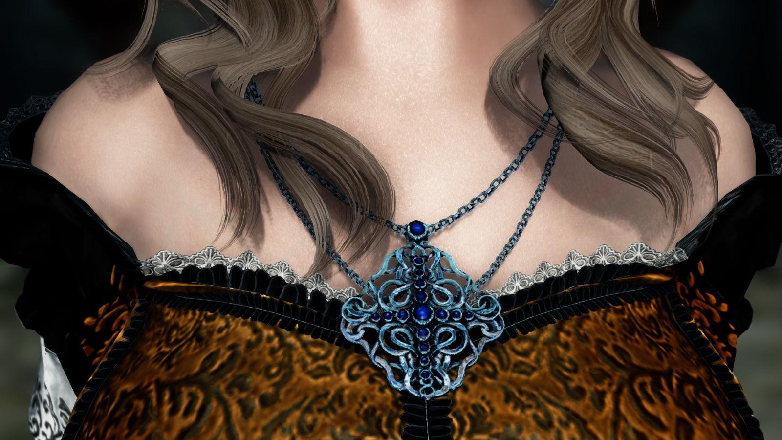 FullInuEliseDressSK 281-1 Pose Necklace Silver 1