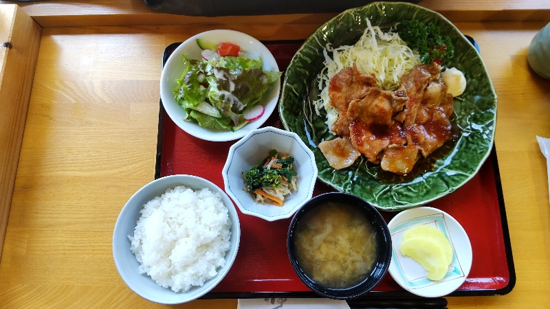 道の駅東山道伊王野道の駅東山道伊王野生姜焼き定食202104