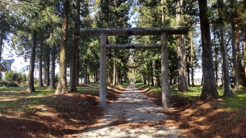 那須神社参道入口202104