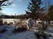 朝の雪景色①