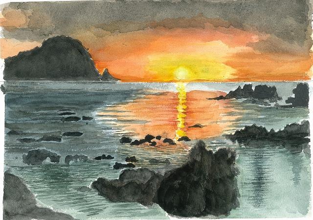 s-笠戸島の夕陽
