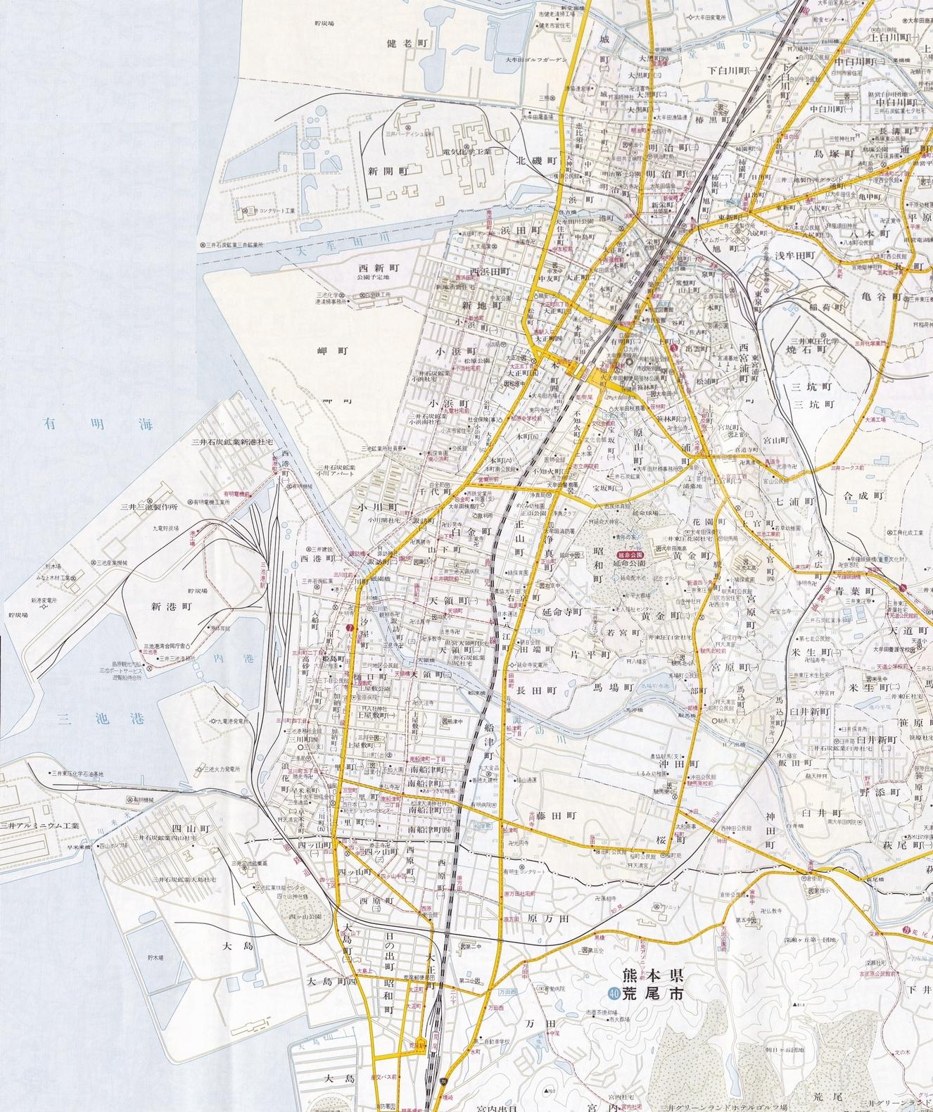 大牟田南北地図7