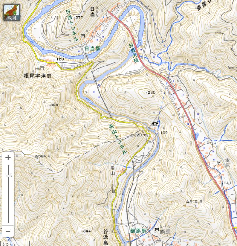 日当駅地図