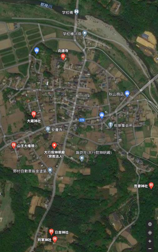 地図 嵐山町 大蔵